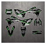 Zhbqcmou Kits de gráficos de calcomanías de Pegatinas de Motocross para Kawasaki KX250F KXF250 2013 2014 2015 2016 2016 hnzhb (Color : As Shown)