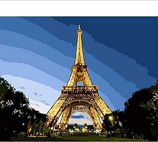 Waofe  Gerahmte Bilder Bilder Bilder Malen Nach Zahlen Landschaft Handarbeit Leinwand Ölgemälde Wohnkultur Für Wohnzimmer Gx3270 B07PMWZP73  Haltbar 39aab0