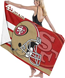 GUOZX San Francisco 49ers Bath Towel Beach/Pool Towel Adult Quick Dry Towel for Yoga Gym Beach 51