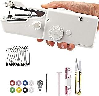 Mini Handheld Sewing Machine, DELFINO Quick Handy Stitch Portable Hand Stitch Cordless With accessories for Beginner Fabri...