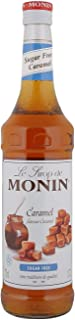 Monin Caramel Sugar Free Syrup In Glass Bottle, 700 ml