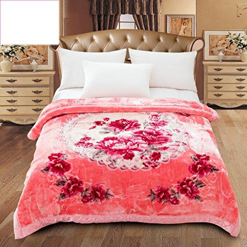 Couvertures Rose de lit de Chambre à Coucher de Motif Floral gaufrant Le processus Doux et Confortable Taille: 200 * 230cm