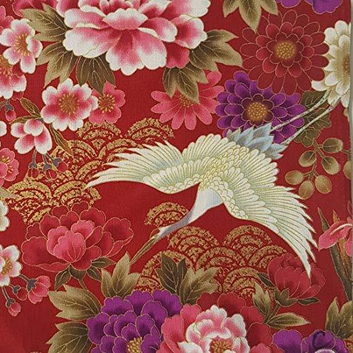 Nutex HERONS - Tela para pájaros (0,5 m, 100% algodón), color rojo