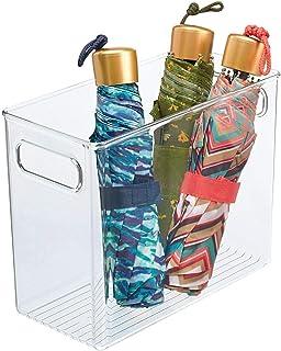 mDesign boite de rangement en plastique avec poignées intégrées – caisse rangement pratique au design attrayant – boite de...
