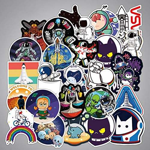 FSVGC Outer Space Astronaut Stickers Suitcase Skateboard Laptop Luggage Refrigerator Car Styling Diy Decal Gift Stickers 100Pcs/Set