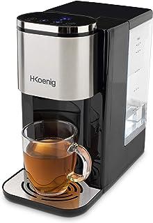H.Koenig Distributeur d'eau Chaude ou Froide filtré anticalcaire électrique Automatique 2.2L INOX DWAT800 Température régl...