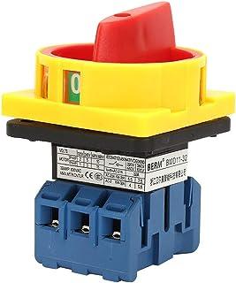 32A 3P Hauptschalter,Dreipoliger 2 Positions Nocken Lasttrennschalter Ein Aus Schalter Lasttrennschalter Drehschalter für Werkzeugmaschinen,Maschinen,Chemikalien,Textilien(32A)