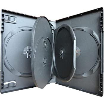 3 x 5 Compartimento 5 DVD CD Caja Móvil Black: Amazon.es: Oficina ...