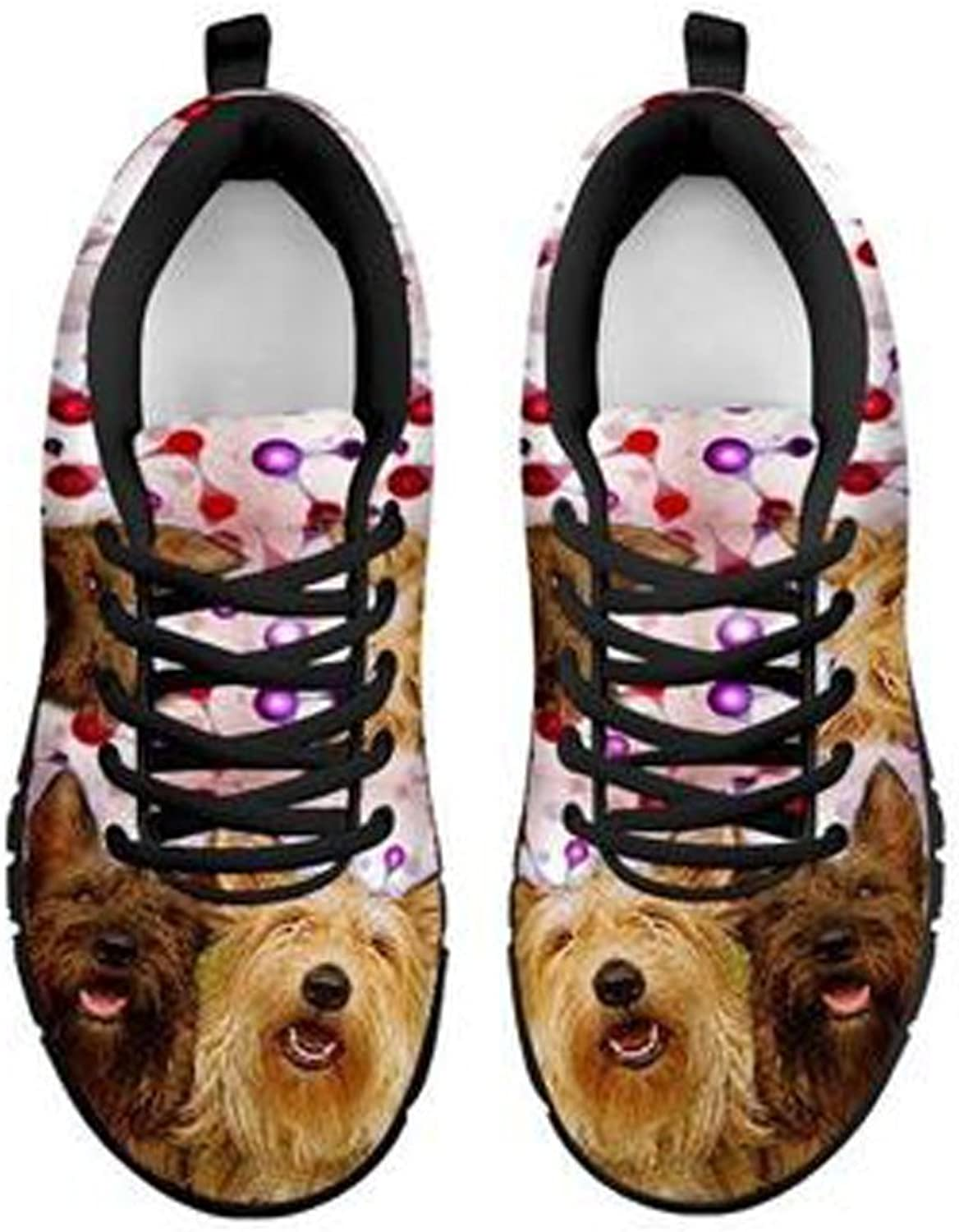 Cute Berger Picard (Picardy Shepherd) Dog Print Women's Casual Sneakers