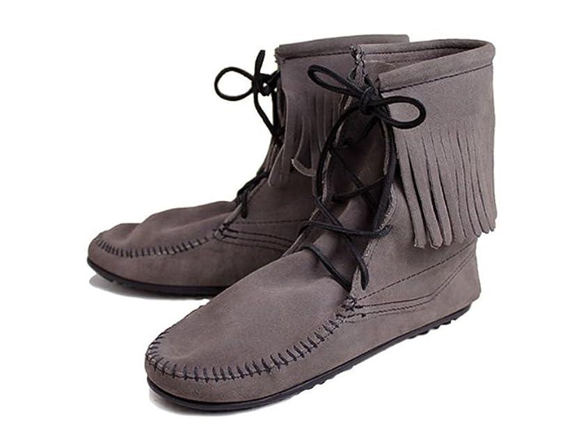 熟す生き返らせる微生物[ミネトンカ] Tramper Ankle Hi Boot(トランパー アンクルハイブーツ)#421T GREY レディース MT024