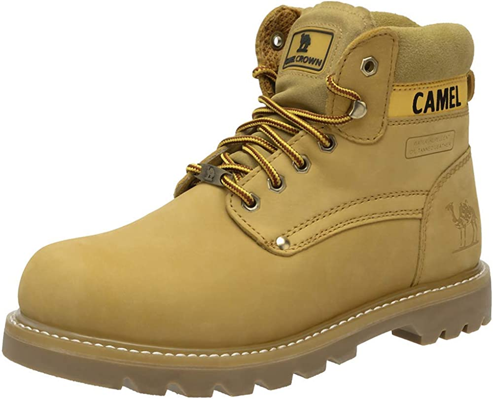 CAMEL CROWN Men's Soft Toe Genuine Leather Work Boots 6'' Utility Ankle Boot Rubber Outsole