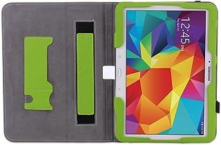 WAWO Samsung Galaxy Tab 4 10.1インチタブレット スマートカバー クリエイティブな二つ折りケース ブラック 9.8 x 0.6 x 7.2 inches 2861200
