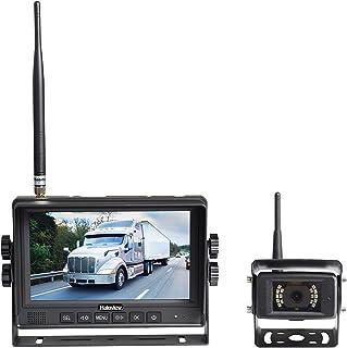 Haloview MC7108 7'' 720P HD Digital Wireless Rear View Camera System 7'' LCD Reversing Monitor and IP69K Waterproof Backup...