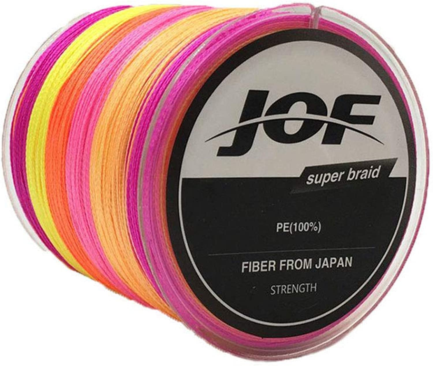Fishing Line 4Strand Multicolor PE Abrasion Resistant(546Yards500m) 100 115 130 150 lb Extra Thin Diameter 0.5 0.55 0.6 0.8mm Suitable for Saltwater &Freshwater