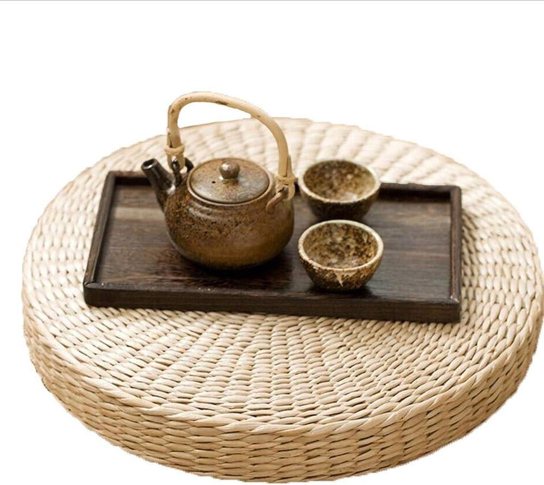 Stools Footstool Work Stool Step Stool Tea Ceremony Straw Meditate Meditation Futon Pucao CONGMING (color   Wood-45  45  10)