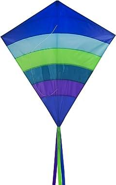 In the Breeze Arch Diamond Kite - Single Line Diamond Kite - Ocean, 39-Inch