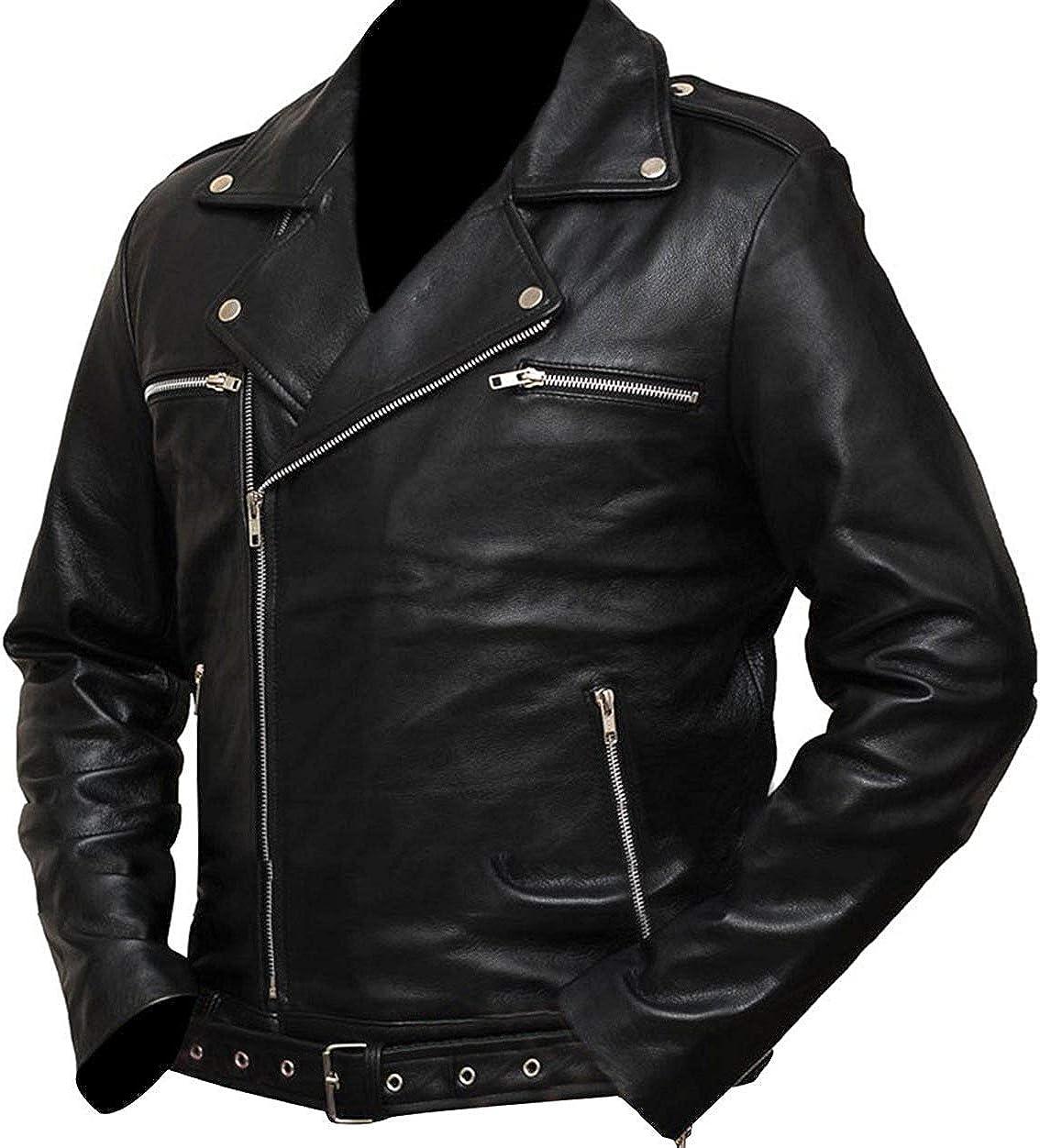 Haute/_Fashions Negan Walking Dead S7 Jeffrey Dean Morgan Black Jacket