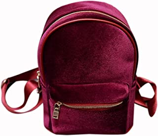 DingXiong Fashion Simple Designer Backpack Soft Velvet Women Small Travel Backpacks School Bags for Teenager Girls