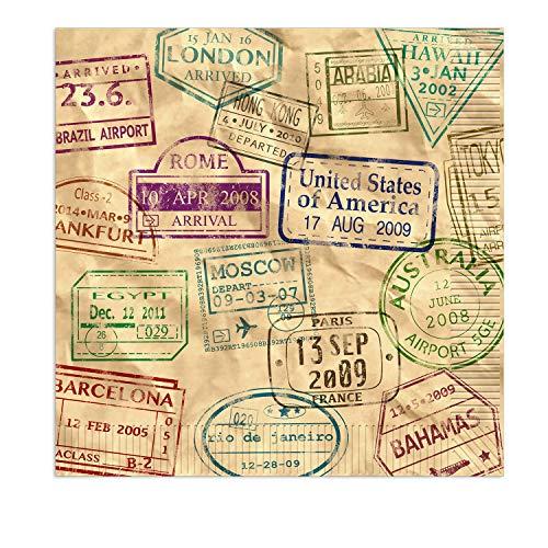 Beistle Servietten Weltreise 16er Pack