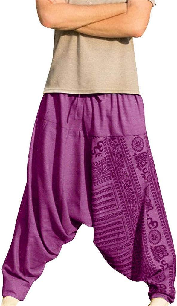 BAOHOKE Men's Baggy overseas Lounge Hippie Harem Side Pants P Pocket Ranking TOP11 Boho