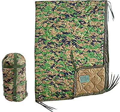USGI Industries Military Spec Thermal Insulated Camping Blanket, Poncho Liner. Large Portable, Water-Resistant, Lightweight, for Hiking, Outdoor, Survival.Comes with Compression Carry Bag.(Marpat)