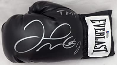 "Floyd Mayweather Jr. Autographed Black Everlast Boxing Glove LH""TMT"" Beckett BAS Stock #159659 - Autographed Boxing Gloves"