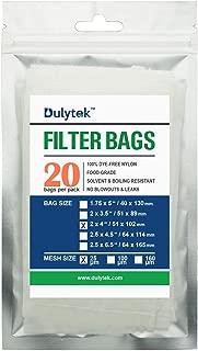 Dulytek Premium Nylon 20 Pcs Filter Bags, 25 Micron, 2