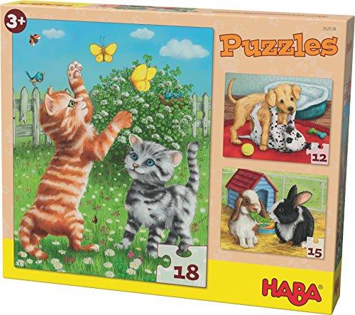 HABA 302638 Puzzle Haustiere