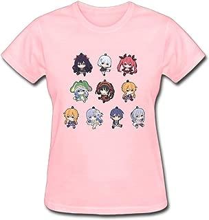 Refined Clannad Furukawa Nagisa and Sunohara Mei Women's Cotton Short Sleeve T-Shirt