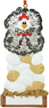 Personalized Hen with Eggs on Nest Christmas Tree Ornament 2019 - Farmer Black White Chicken Tradition Agriculture Livestock Cattle Animal Home Family 1st Old Year Gift - Free Customization
