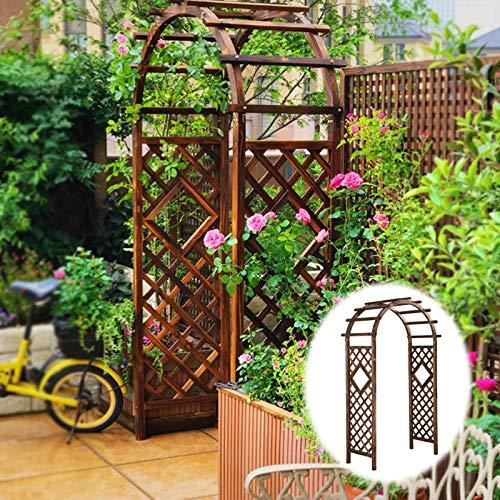 SYLJ Wood Garden Arbor Arch, Wedding Arch for Ceremony, Outdoor Arbor Plant Climbing Support, Decor for Party, Weddings, Birthdays & Backyards