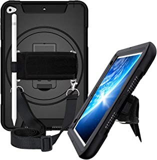 iPad Mini 5 2019 / iPad Mini 4 Case 360 Kickstand Adjustable Handle Neck Strap Hand Strap Shoulder Strap Case Heavy Duty Shockproof Protective Case for iPad Mini 4/5 7.9