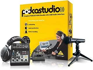 Behringer PODCASTUDIO USB Complete Podcastudio Bundle with USB/Audio Interface