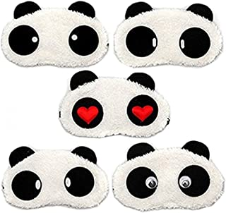 erioctry 3PCS Lovely Panda Face Sleep Masks Panda Eye Mask Sleeping Blindfold Nap Cover