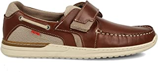 PAYMA - Chaussures Bateau Sport Casual Homme en Cuir. Grandes Tailles. Fermeture Velcro et Lacets. Semelle en Caoutchouc. ...