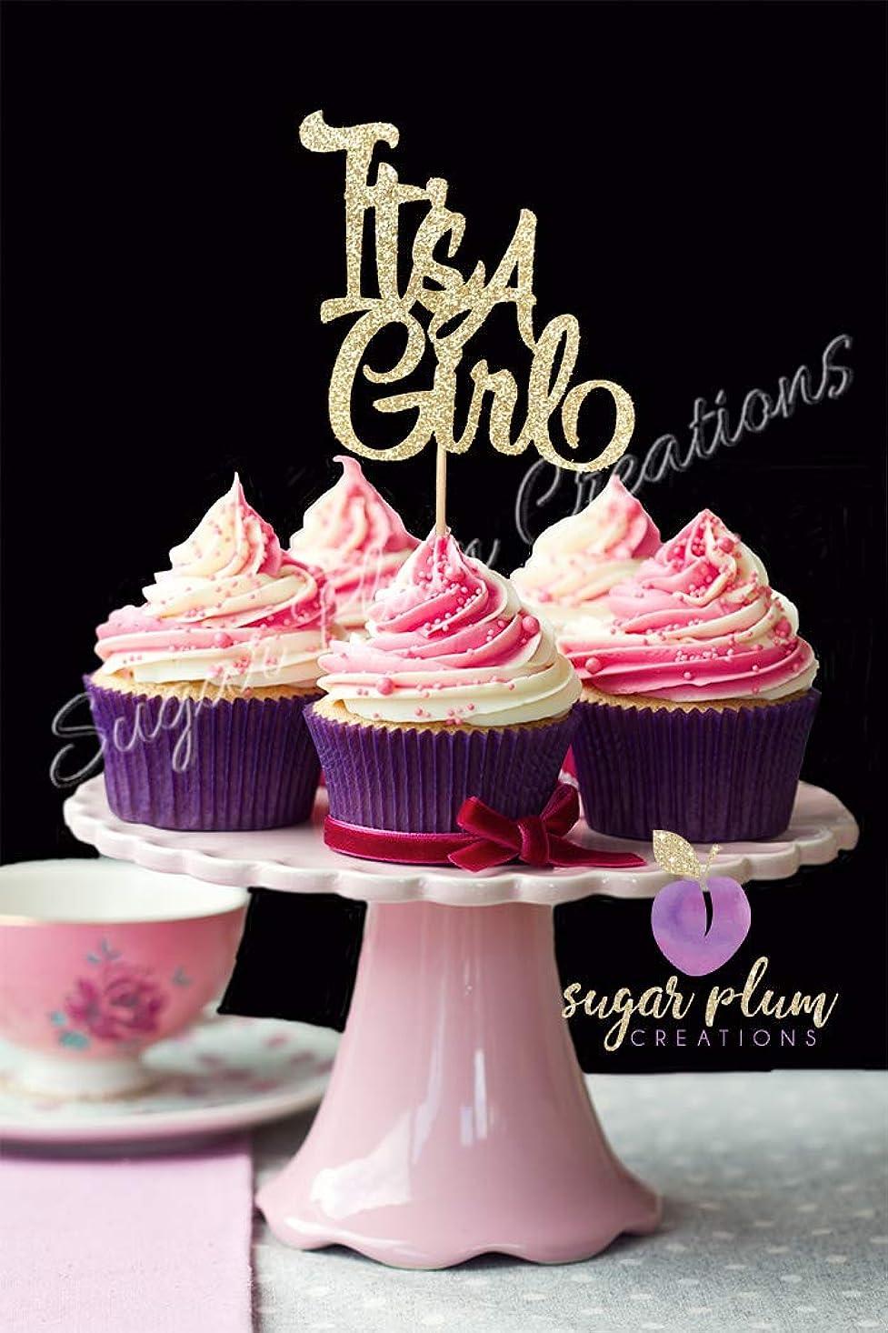 Sugar Plum Creations Set of 12 Baby Girl Cupcake Topper bshinfcpduejge