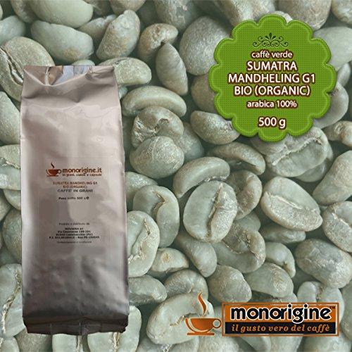 Grüner Bio-Kaffee Arabica Sumatra Mandheling G1 BIO (Organic), ungemahlen – 500 g – Kaffee Monorigine Arabica 100 %