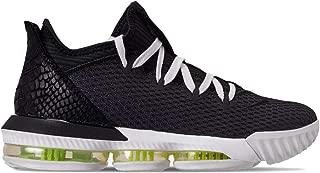 Nike Men's Lebron XVI Low Basketball Sneaker (Black/Black-Summit White-Volt)