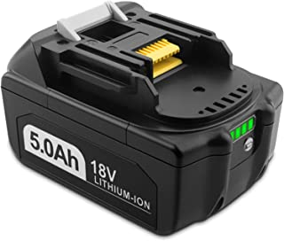 EICHXO 5.0Ah 18V Batería para Makita BL1815N BL1820 BL1820B BL1830 BL1830B BL1840B BL1850B BL1860B BL1815 BL1840 BL1850 BL...