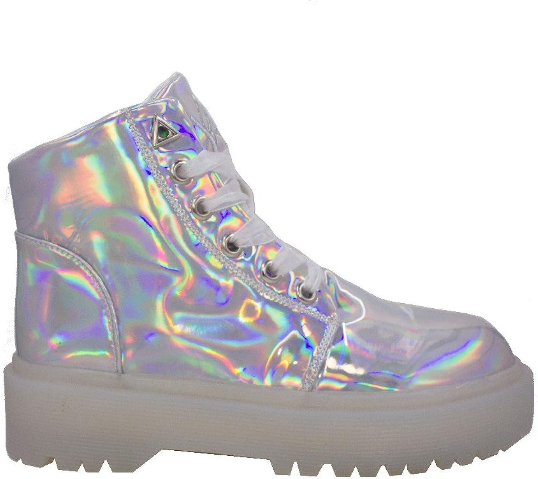 YRU Slayer Sneaker Silver Hologram