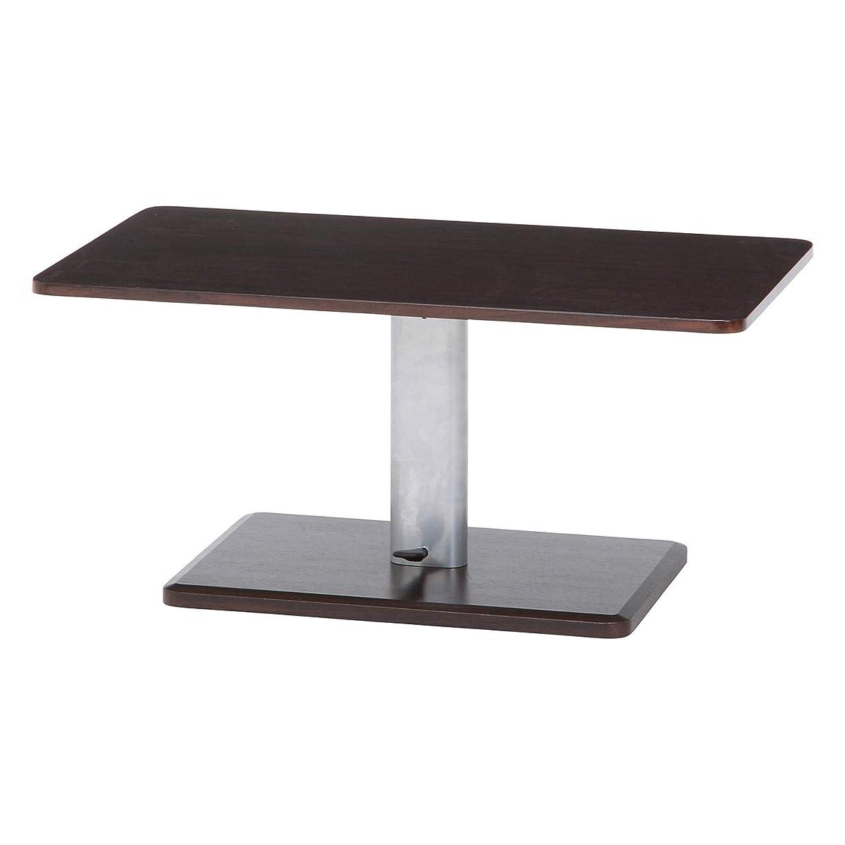 アブストラクトストローク悲惨な不二貿易 昇降テーブル 幅90cm 高さ43-57cm ブラウン ガス圧 高さ調整 10497