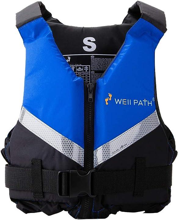 Giubotto kayak giubbotto salvagente da bagno per adulti galleggiamento con fibbia regolabile wellpath Y1-YD-FLBX0378504F