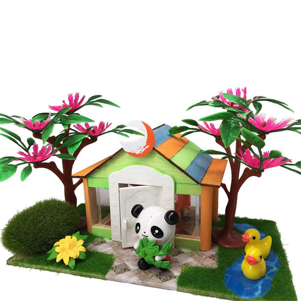 DIY Modelo de Cabina de Madera Bloques tridimensionales Juguetes de los niños de jardín de Infantes han montado Regalo a Mano Regalo Creativo para niños y niñas Casa de Bricolaje: Amazon.es: Hogar
