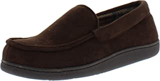 Van Heusen Mens Bert Flannel Lined Slipper, Brown, Small (7-8)