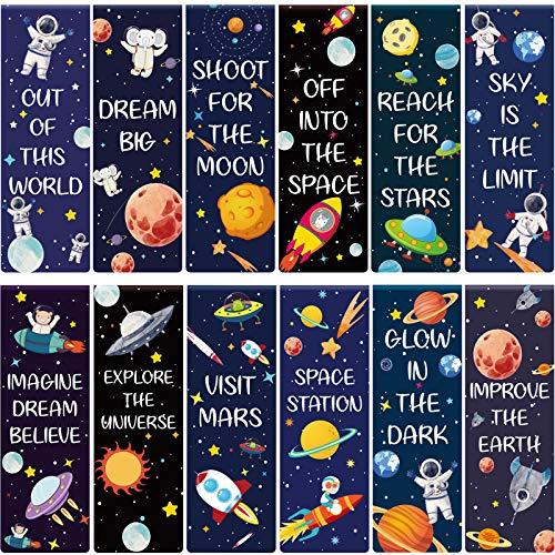 36 Piezas Marcadores de Libros Magnéticos Marcadores de Página Magnéticos de Tema de Cielo Estrellado Clip de Página Magnético Positivo Marcadores Planeta para Suministros Lectura