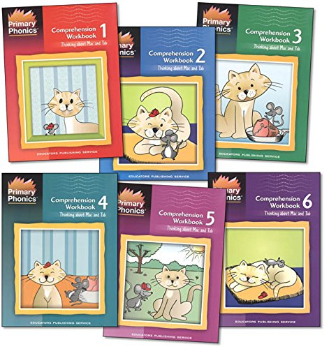 Primary Phonics Comprehension Complete 6 Workbooks Set -- Thinking About Mac and Tab Book 1-6