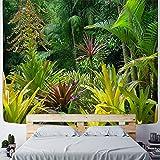 KHKJ Tapiz de Bosque Tropical para Colgar en la Pared, decoración de Dormitorio Familiar, Tela, impresión artística Bohemia, A1 200x180cm