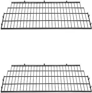 Suncast BMSA7S Vertical Storage Shed Organization Metal Wire Shelf Rack (2 Pack)