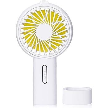 Jawwei 2019年モード 手持ち 扇風機 USB 卓上 ファン 超静音 小型 充電式 熱中症対策 ミニ扇風機 3段階風量調節 タンド機能付き 大容量(ホワイト)