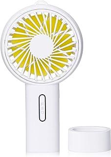 Jawwei 2019年モード 手持ち 扇風機 USB 卓上 ファン 超静音 小型 充電式 熱中症対策 ミニ扇風機 3段階風量調節 タンド機能付き 大容量 2000mAh(ホワイト)